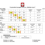 2014 Dzukijos taure U - 14 lentele